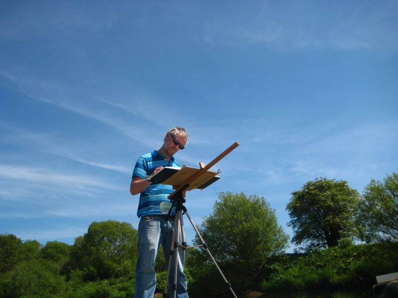 Sketching at Hawick, Nr Berwick-upon-Tweed