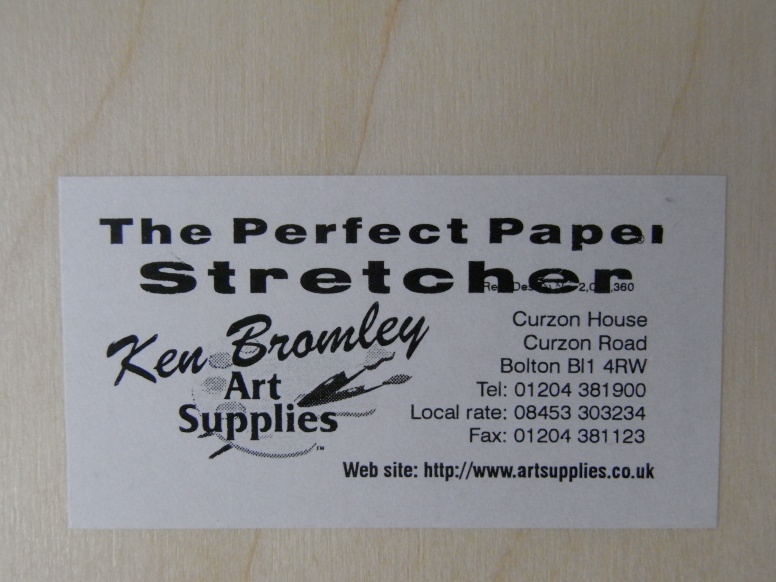 The Perfect Paper Stretcher from Ken Bromley