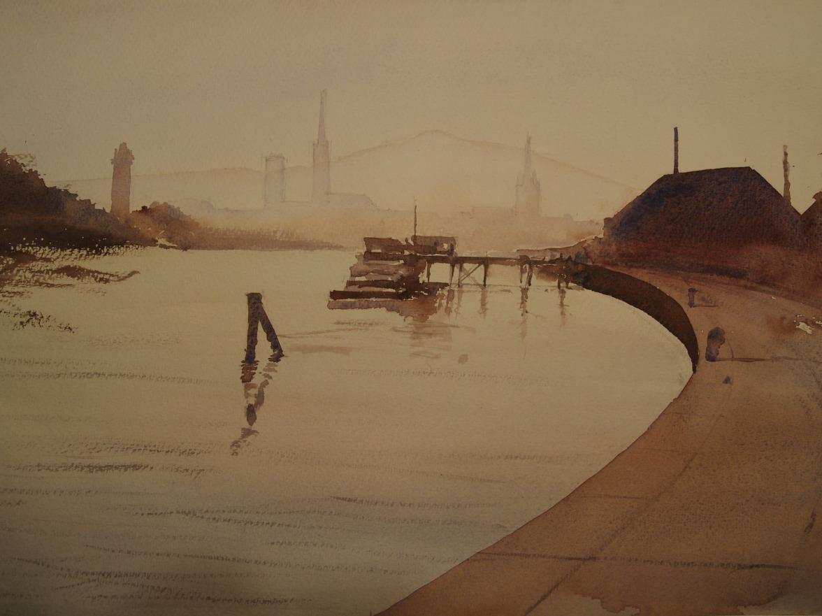 Homage to Edward Seago's 'Evening Light, Rouen'