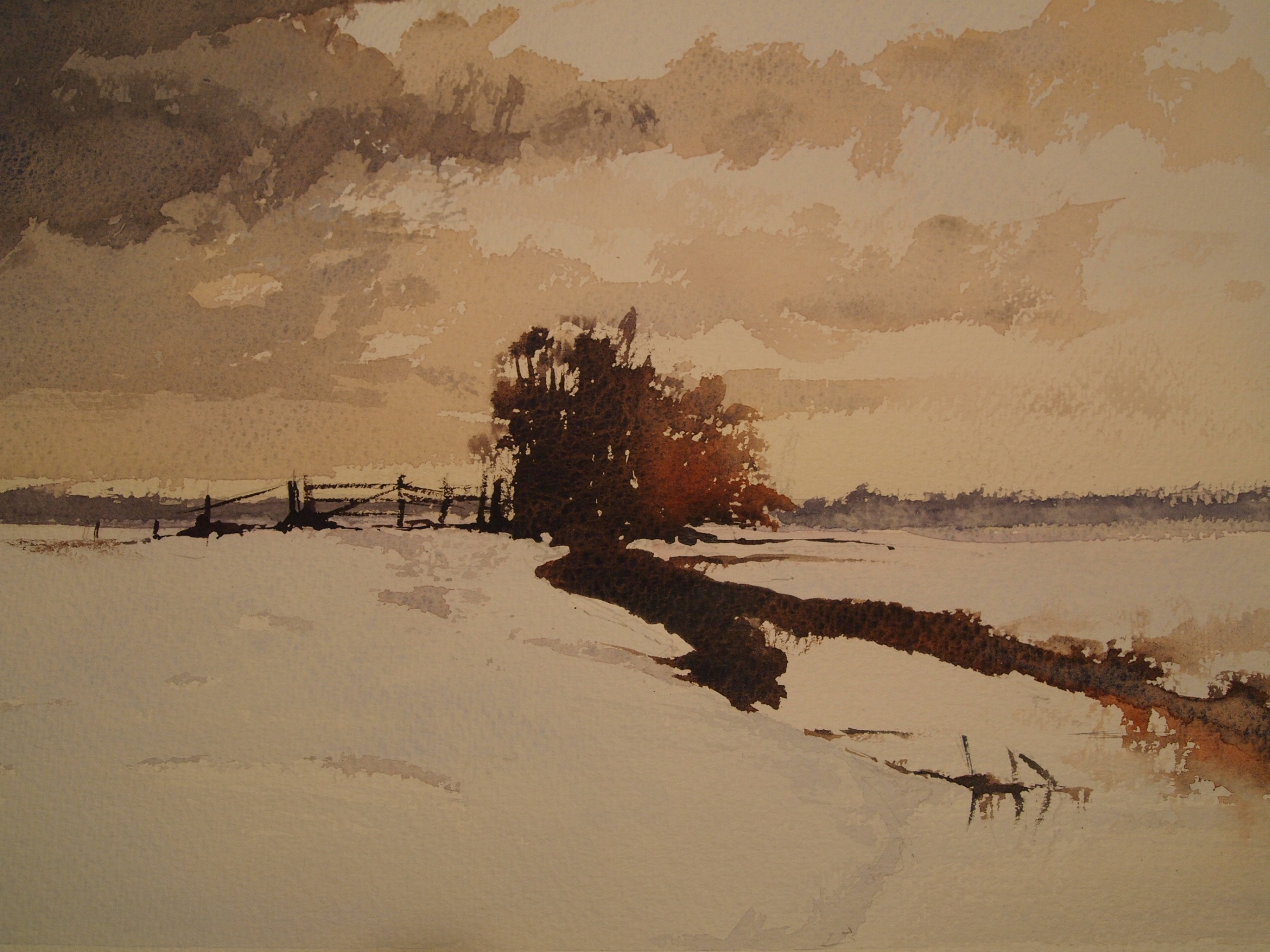 Homage to Edward Seago's 'Norfolk Marsh in Winter'