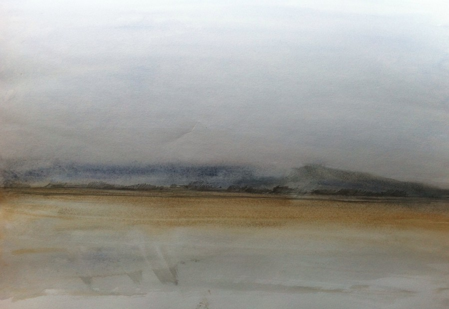 Sketch one: View towards Southport from Lytham