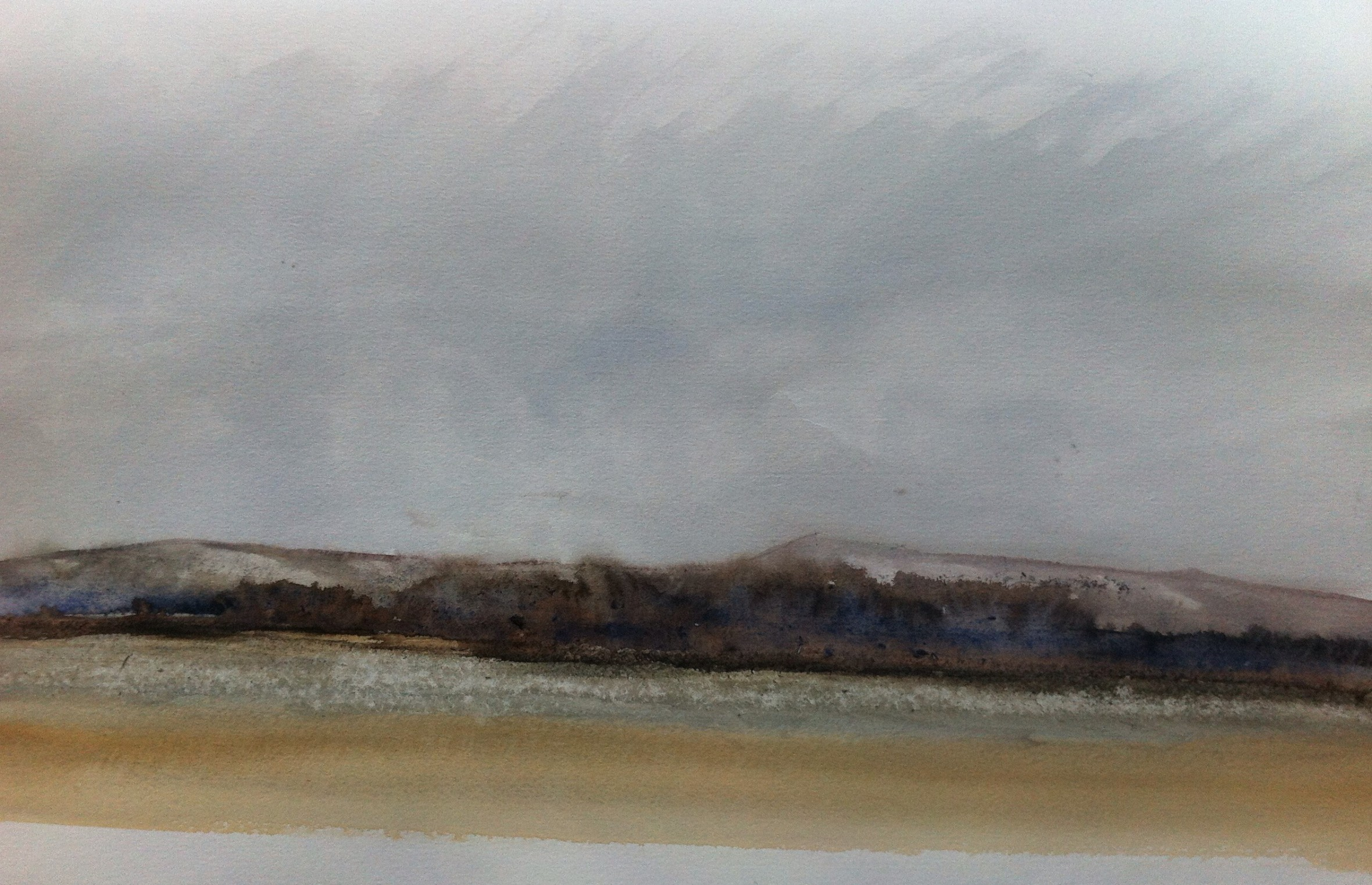 Sketch two: view towards Southport from Lytham