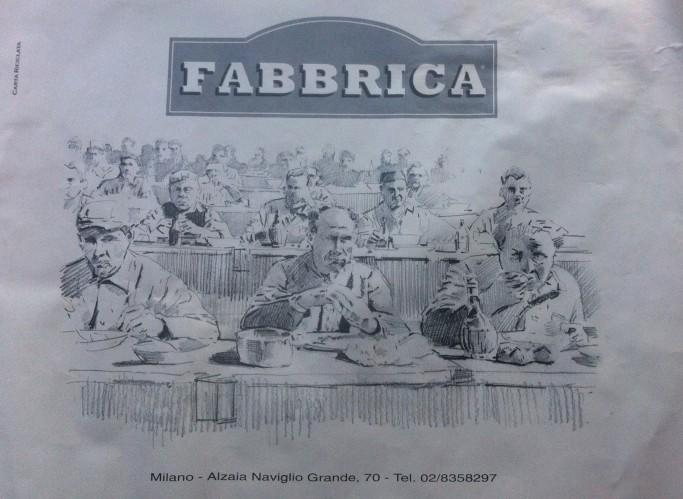 Fabbrica Restaurant placemat