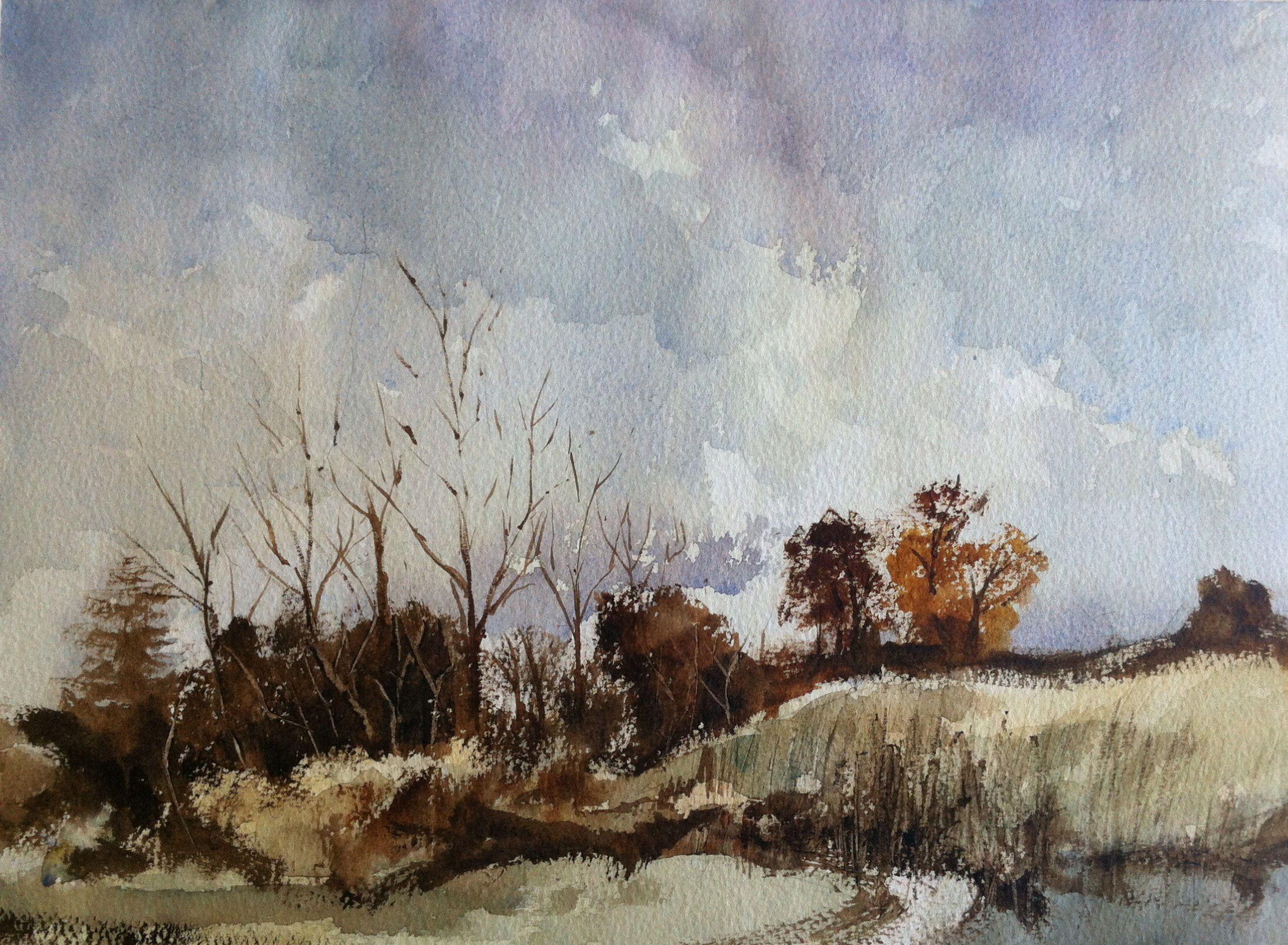 Autumnal scene after Rowland Hilder