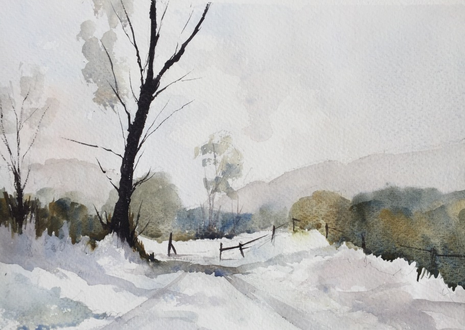 An Edward Wesson inspired snow scene