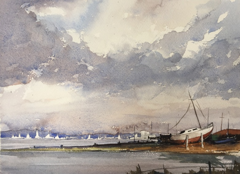 After Edward Wesson's 'Yarmouth, Isle of Wight'