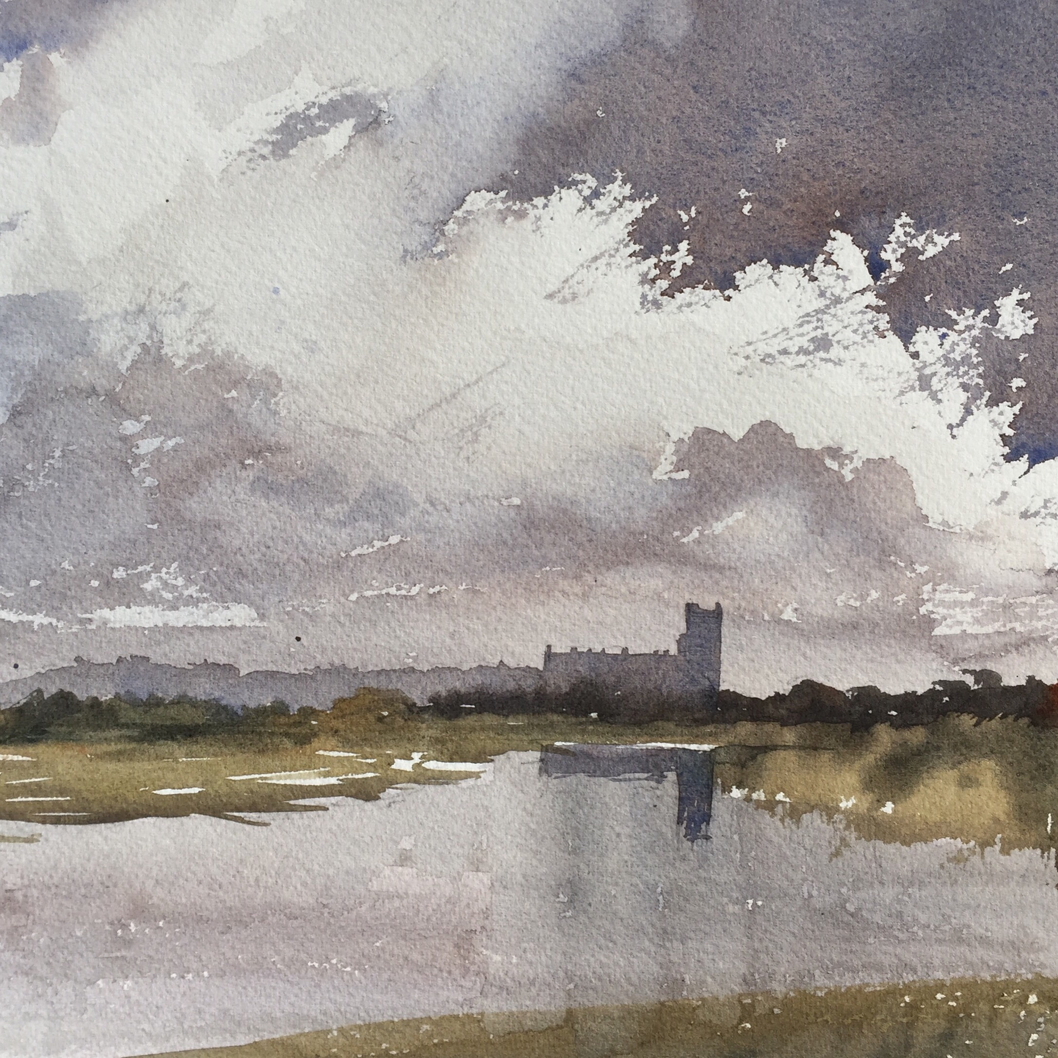 After Edward Wesson - view of Blythborough Church, Suffolk