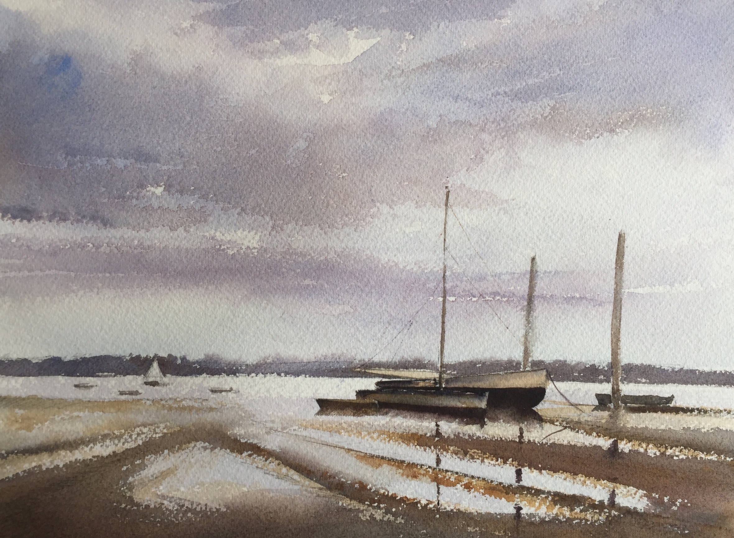 After 'End of the Hard. Pin Mill' by Edward Seago - take one...