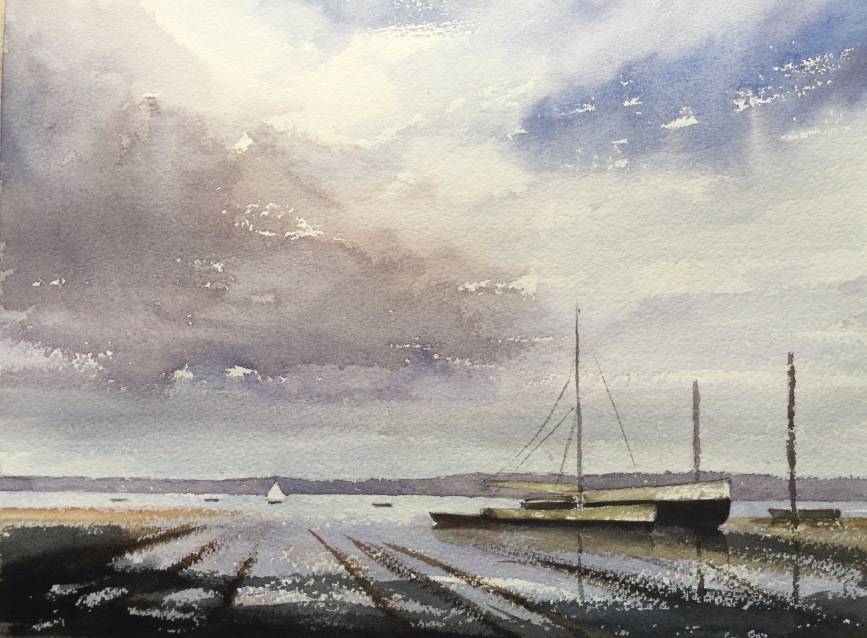 After 'End of the Hard. Pin Mill' by Edward Seago - take three...