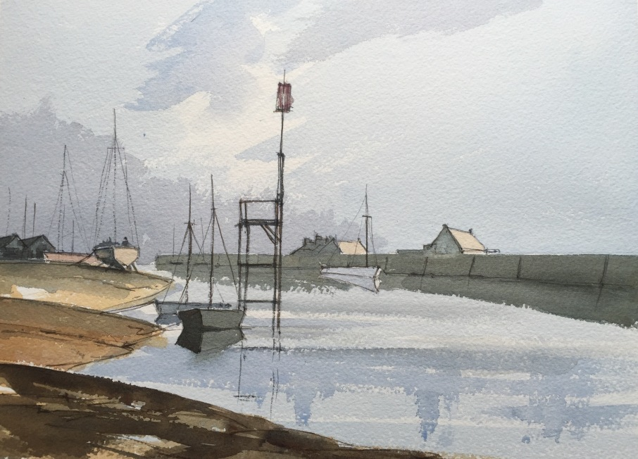 SOLD - After Rowland Hilder's sketch of Rye Harbour
