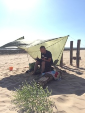 May look idyllic but was like painting in a sandstorm! On Isle D'Oleron in France