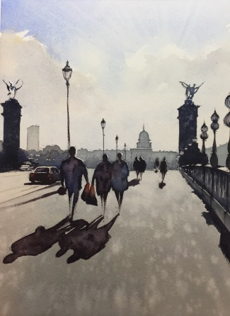Crossing Le Pont Alexandre III