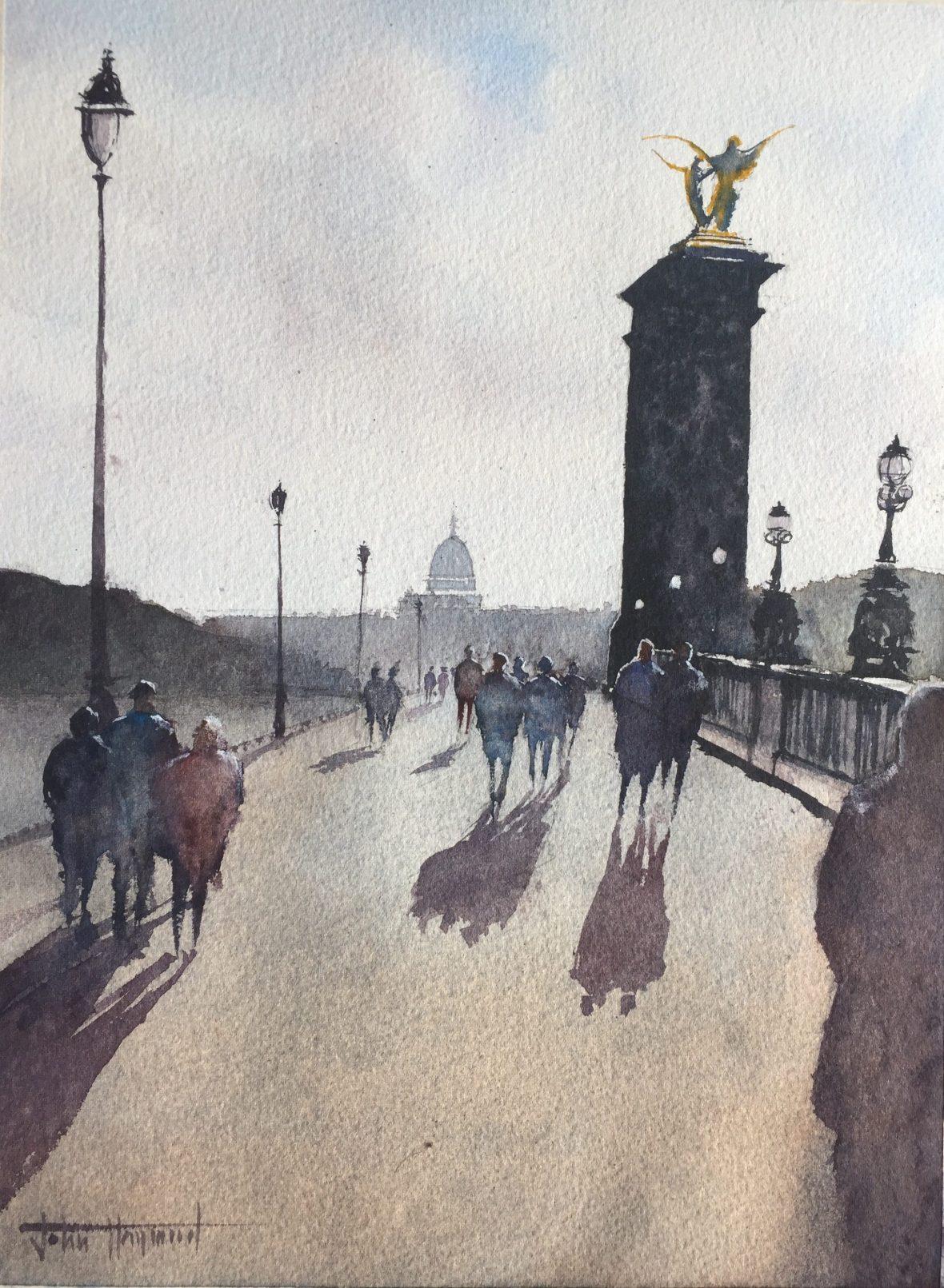 A sunlit Pont Alexandre III, Paris