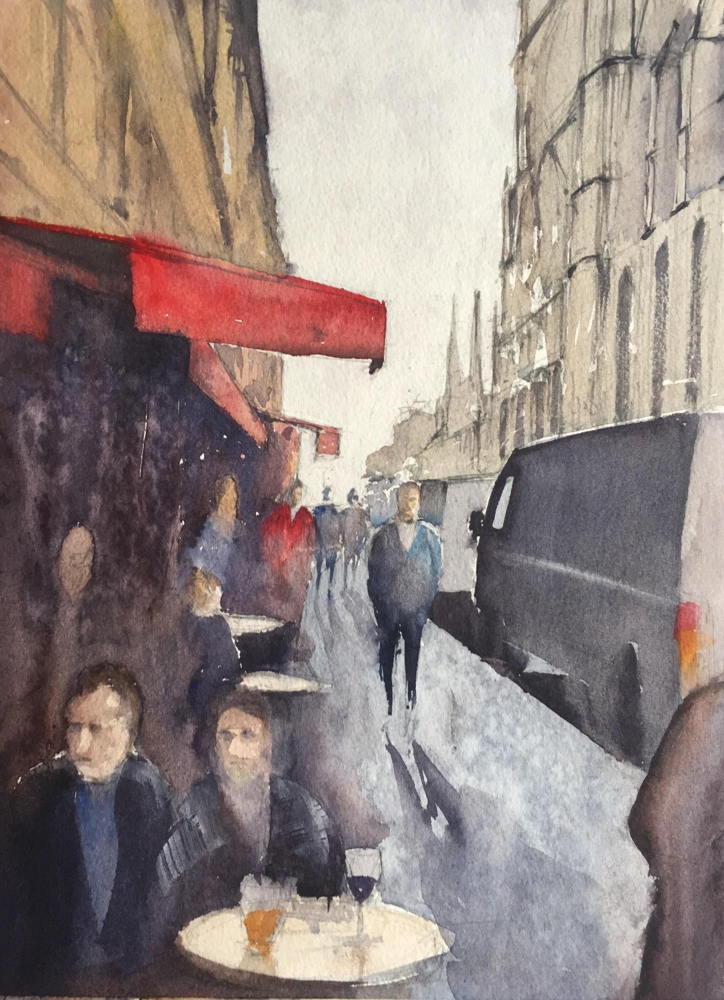 Side street near Notre-Dame, Paris