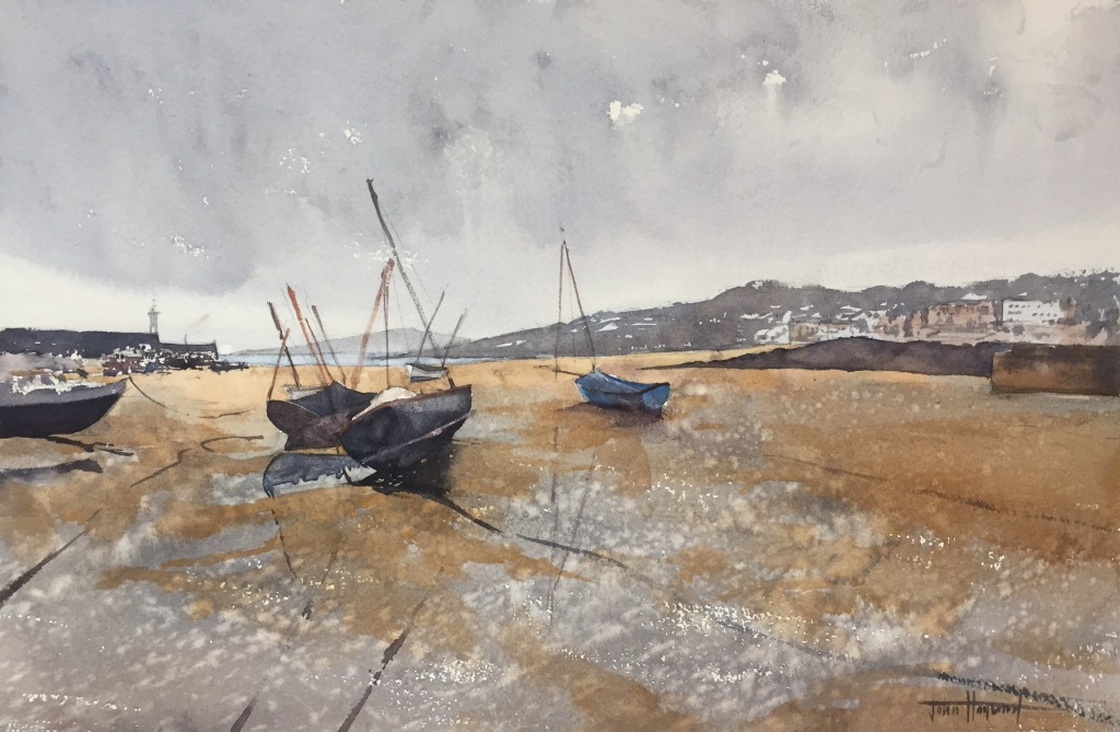 Overcast day on the beach, St Ives