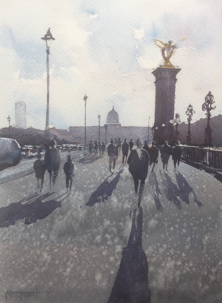 Shadows on Le Pont Alexandre III, Paris