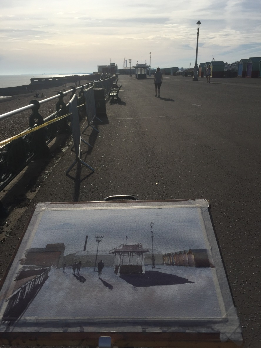 Plein air on Brighton and Hove seafront