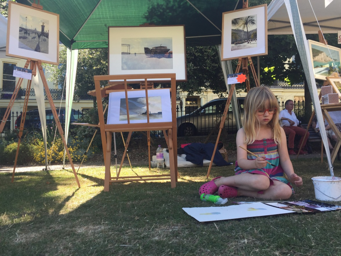 Good of my daughter to stop by and deliver a watercolour masterclass!