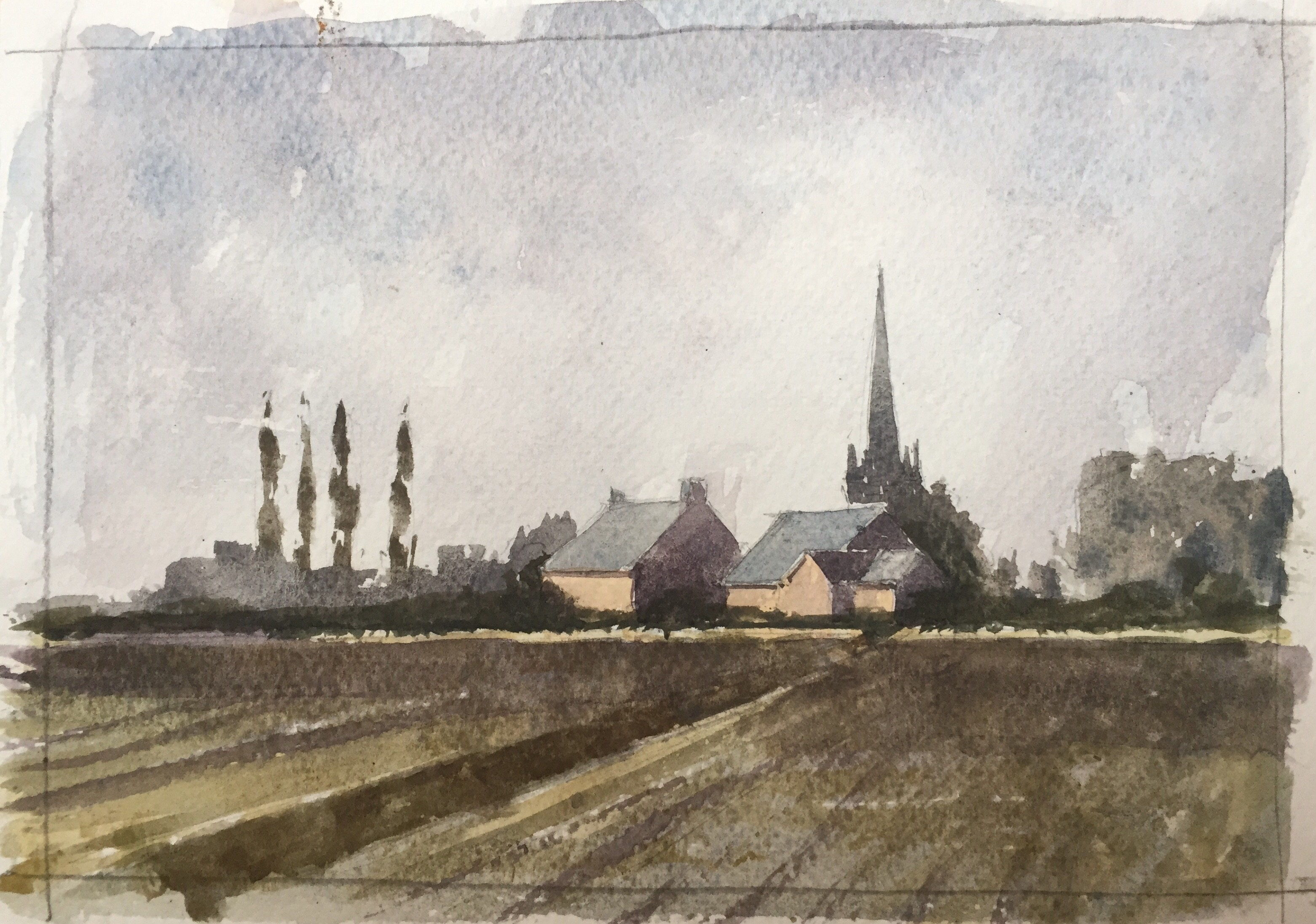 Watercolour sketch by John Haywood