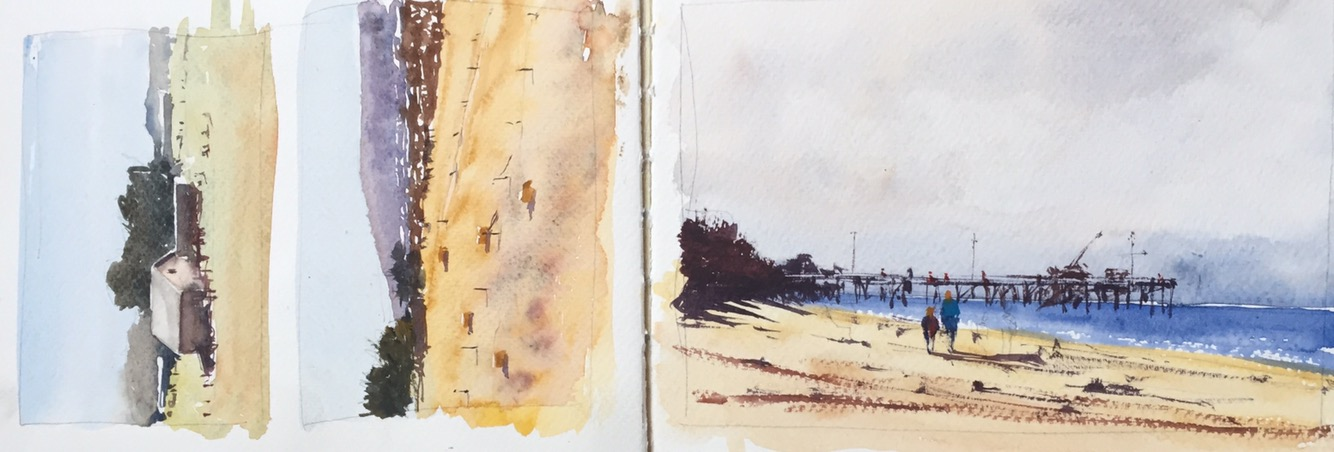 Watercolour sketches by John Haywood