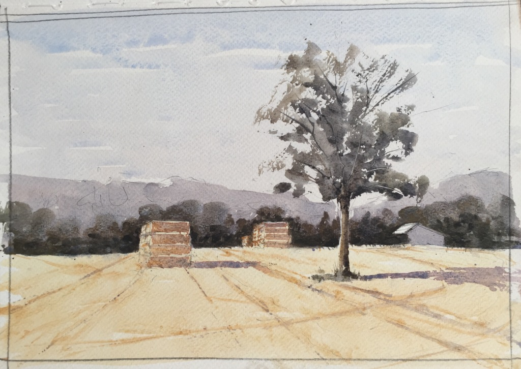A4 waterolour landscape sketch by John Haywood