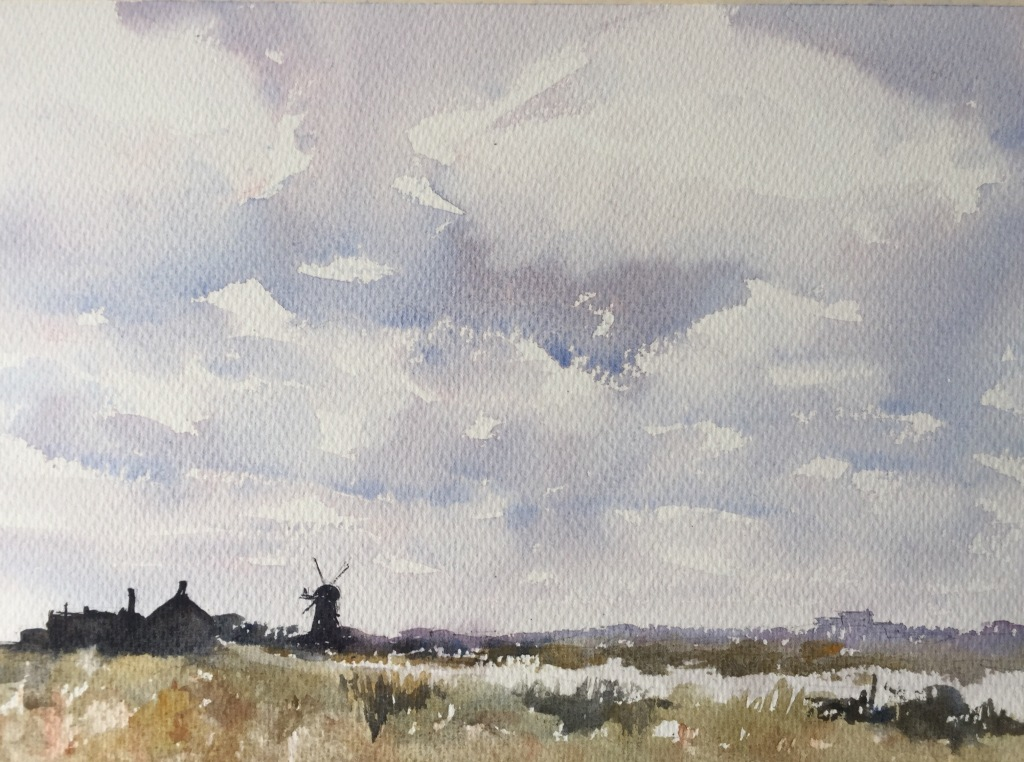 A Jem Bowden inspired watercolour painting by John Haywood