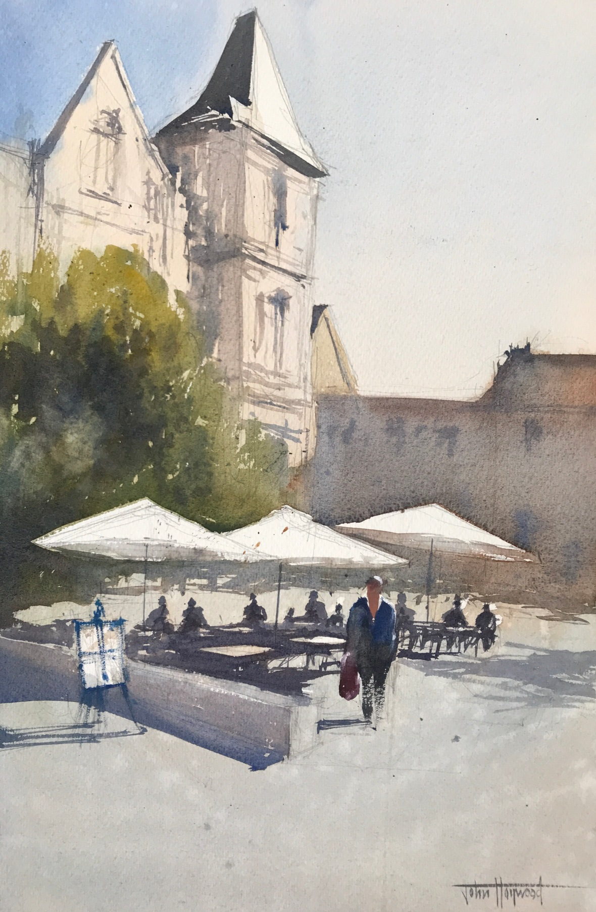 A watercolour painting by John Haywood