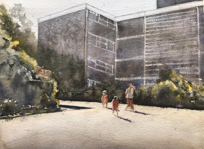 Park Gate sketch, a watercolour sketch by John Haywood