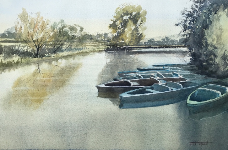 Watercolour painting by John Hawyood