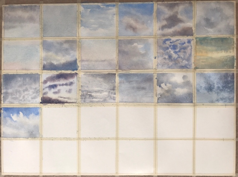 30 skies of June (#30x30DirectWatercolor2018) - a watercolour series by John Haywood