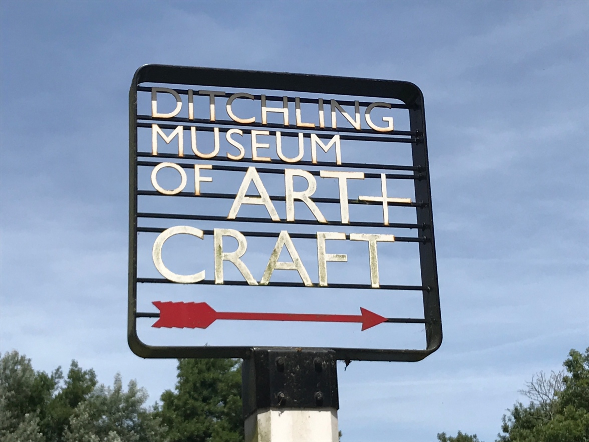 The entrance sign