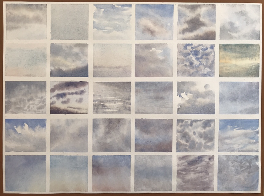 30 skies of June 2018, a watercolour project by John Haywood