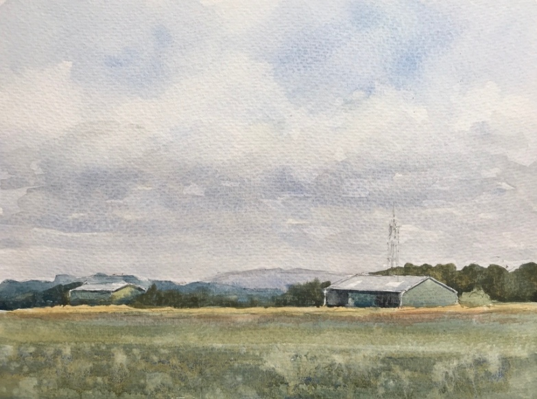 Watercolour sketch by John Haywood