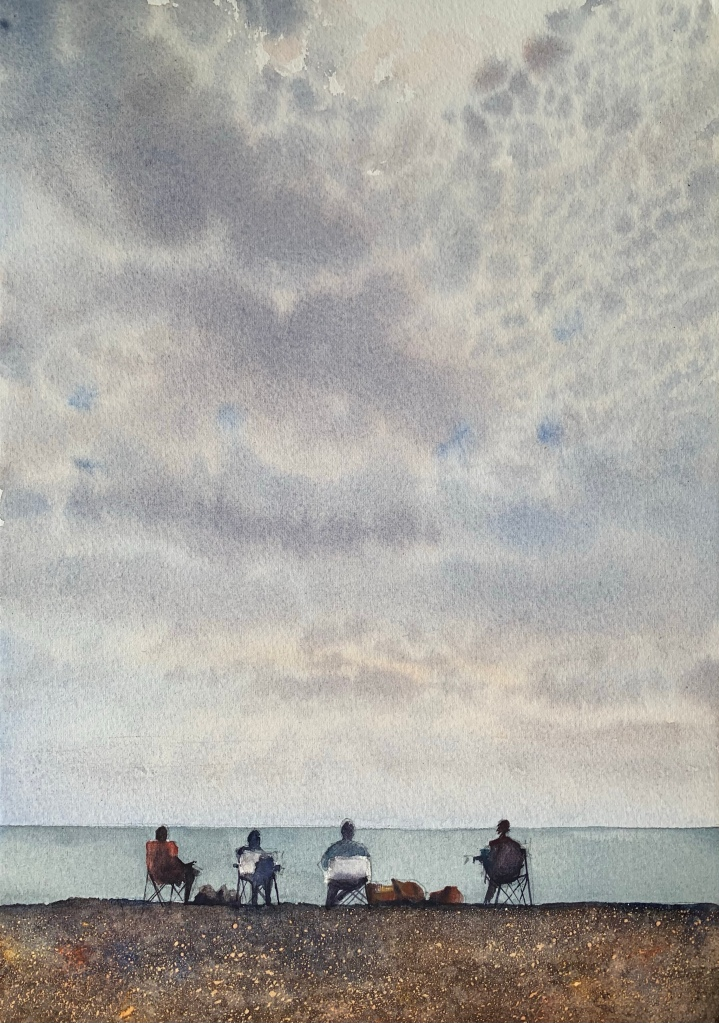 The last days of summer, a watercolour painting by John Haywood