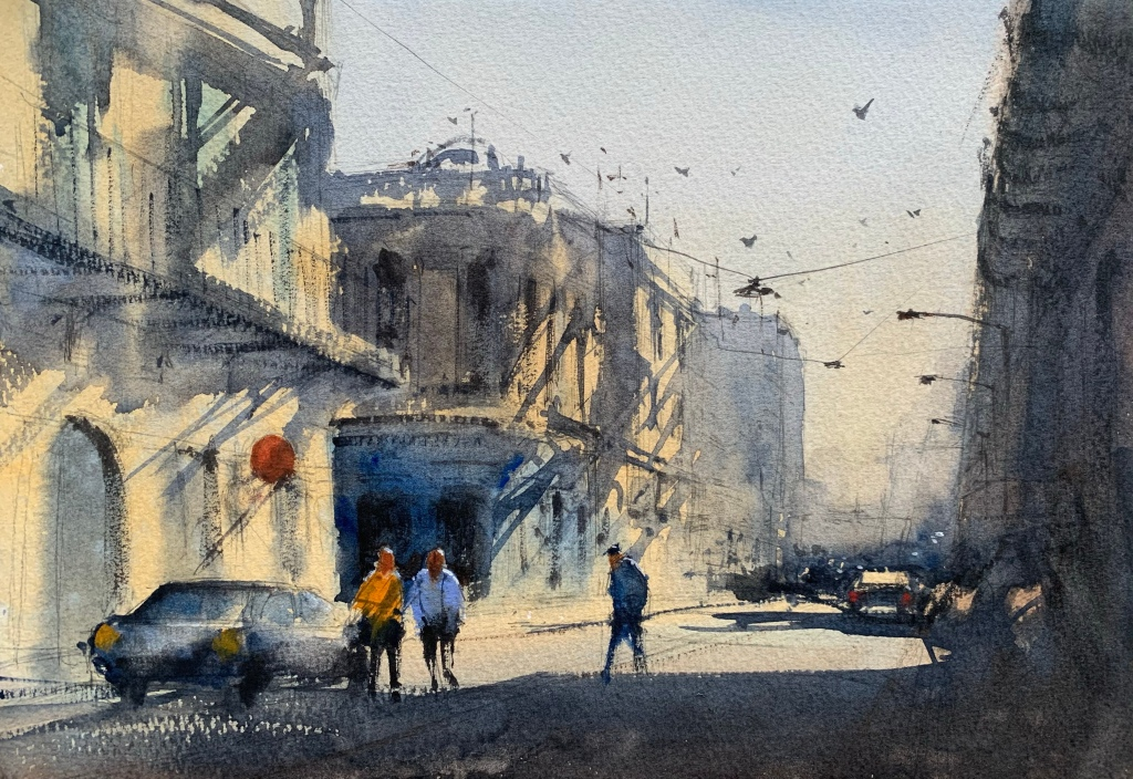 My Alvaro Castagnet watercolour workshop painting, ready for feedback.